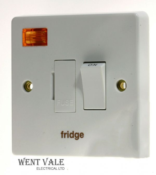 Crabtree Capital - 4827/3/FR - 13a D/Pole Switched Fuse Connection Unit Fridge